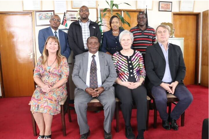 Delegation from University of Bayreuth, The Federal Republic of Germany, who visited Moi University on 8th February this year to assess the  University's capacity to host one of the Cluster Centres of Excellence.